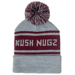 KN Knitted Toque // Grey and Burgundy